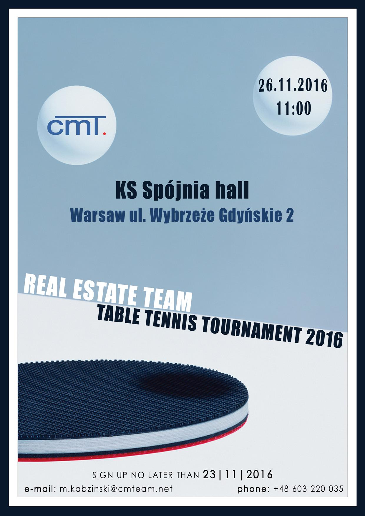 I edición Real Estate Team Table Tennis Tournament